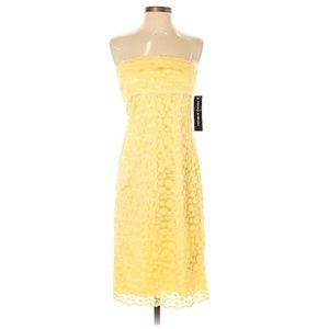 Donna Morgan Yellow Lace Dress